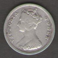 HONG KONG 10 CENTS 1894 VICTORIA QUEEN AG SILVER - Kolonien