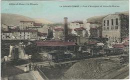 Gard : La Grand-Combe, Pont D'Auvignac Et Usine St Charles - La Grand-Combe