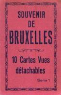 « Souvenir De BRUXELLES » - Carnet De 10 CV - Belgique