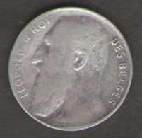 BELGIO 50 CENTS 1901 LEOPOLDO II AG SILVER - 1865-1909: Leopoldo II