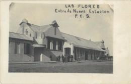 URUGUAY - LAS FLORES - ENTRADA NUEVA ESTACION - RPPC - CARTE PHOTO - Uruguay