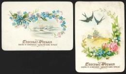 2 Chromos Chocolat Poulain - Fleurs & Paysages - Poulain