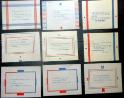 MARECHAL PETAIN   1940 REGIME DE VICHY  ENSEMBLE DE 33  PAPILLONS DIFFERENTS DE PARABOLES DE OU SUR PHILIPPE PETAIN - Documents Historiques