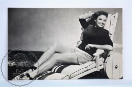 1950's Vintage Real Photo Postcard Cinema Film Actress - Lorraine Day - Actores