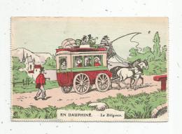 Cp , TRANSPORTS , En DAUPHINE , La Diligence , Imp. Courmont , Ed Française , Série PP. N° 48 , Vierge - Postcards