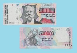 Argentina 500.000 Pesos 1991  UNC COPY - REPRODUCTION -.REPLICA  - UNC - Argentinië