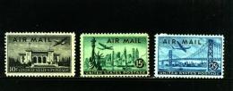 UNITED STATES/USA - 1947   VIEWS  AIR MAIL  SET  MINT NH - Stati Uniti
