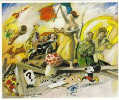DE MOOR J. RARE Carte Postale D'après Le Tableau De DELACROIX Avec Héros BD, Tintin, Blake Et Mortimer, Mickey,Gaston... - Cartes Postales