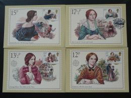 Carte Maximum Card (x4 Femmes Célèbres Famous Woman Grande Bretagne Great Britain 1980 - Femmes Célèbres
