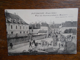 """70.HAUTE SAONE.CPA FAVERNEY.""""Place Des Casernes Pendant Les Manoeuvres"""".très Animée. - Autres Communes"""