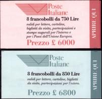 """ITALIA REPUBBLICA - 1995. 2 LIBRETTI """"ENTE PUBBLICO POSTE IALIANE"""" (L17 E L18) NUOVI* * - 6. 1946-.. República"""
