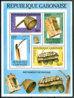 1988 Gabon Strumenti Musicali Musical Instruments Block MNH** Car17 - Gabon (1960-...)