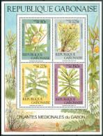 1988 Gabon Piante Medicinali Medical Plants Block MNH** Car18 - Gabon (1960-...)