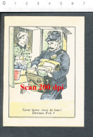 Chromo Publicitaire Lotion Marie-Rose Devinette / Humour La Poste Métier Facteur Sacoche Courrier //BIM 69/1-C - Alte Papiere