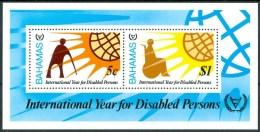 1981 Bahamas International Year For Disables Persons Block MNH** Car20 - Bahamas (1973-...)