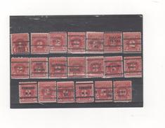 USA 1930 - 20 Timbres Taxe Préoblitérés. - Préoblitérés