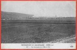 CPA 51 AY Révolution En Champagne Marne Avril 1911 - Vue Générale De La Ville En Feu ° ELD Le Deley - Ay En Champagne