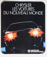 Autocollant Voiture Chrysler Des Voitures Du Nouveau Monde - Autocollants
