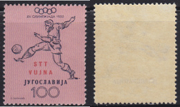 5078. Italy Slovenia Trieste Zone B 1952 Olympic Games In Helsinki, Value Of 100 Din, MNH (**) Michel 75 - Trieste