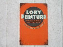 LORY PEINTURE  Brillante - Siccative (calendrier De Poche) - Profumeria & Drogheria