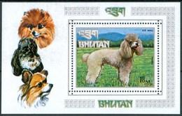 1973 Bhutan Cani Dogs Block MNH** Car21 - Bhutan