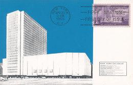 D25902 CARTE MAXIMUM CARD FD 1956 USA - COLISEUM NEW YORK CP ORIGINAL - Architecture