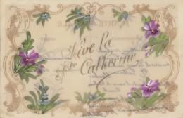 Matériaux - Celluloïd Celluloïde - Carte Porcelaine - Carte Peinte Vive Sainte Catherine - Cartes Porcelaine