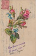 Matériaux - Celluloïd Celluloïde - Carte Porcelaine - Découpi Roses - Amitié - Cartes Porcelaine
