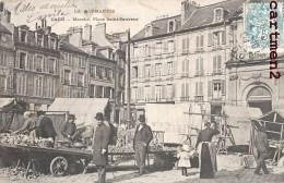 RARE CPA : CAEN MARCHE PLACE SAINT-SAUVEUR 14 - Caen