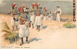 REGIMENT DE TURCOS EN MARCHE ZOUAVES TIRAILLEURS TURQUIE TURKEY ILLUSTRATEUR EUGENE CHAPERON GUERRE - Regimientos