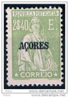 Açores, 1924/8, # 214, MH - Azores
