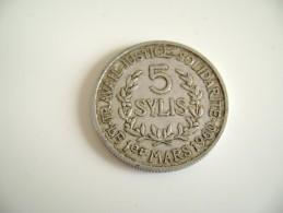 Guinea, 5 Sylis, 1971, SUP, Aluminium,Guinée - Guinea