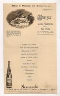ABBAYE DE SENANQUE PRES DE GORDES VAUCLUSE / MENU DU 25 SEPT  1947 / REPAS FRATERNEL OFFERT AU DEPUTE RAOUL FRANCOU - Menükarten