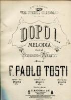 DOPO MELODIA PAROLE DI FERNANDO MARTINI  ZTU. - Scores & Partitions