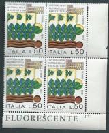 Italia 1973; Fiera Internazionale Dell'agricoltura A Verona, Quartina D' Angolo Inferiore Con FLUORESCENTE. - 6. 1946-.. Repubblica