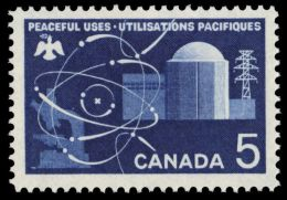 CANADA, 1966,  # 449, ATOMIC RESEARCH, MNH - Neufs