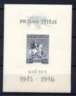 CHECOSLOVAQUIA. AÑO 1946 . Mi BL 8 (MNH) - Blocks & Sheetlets