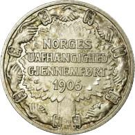 Norvège, Haakon VII, 2 Kroner, 1906, SUP, Argent, KM:363 - Norvège