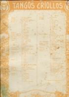 TANGOS CRIOLLOS EDITORES BREYER HERMANOS  ZTU. - Scores & Partitions