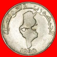 § MAP: TUNISIA ★ 1 DINAR 1990! LOW START ★ NO RESERVE! - Tunesien