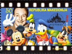 Macedonia / 2016 / The 75th Anniversary Of The Death Of Walt Disney - Macédoine