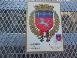 FRANCE (1967)  Armoiries De SAINT LO - Maximum Cards