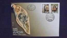 Jugoslawien 3114/5 FDC, EUROPA/CEPT 2003, Plakatkunst - FDC
