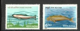 INDIA, 1991, Fauna,  Endangered Marine Mammals, Set 2 V, MNH, (**)