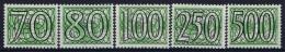 Netherlands: NVPH Nr 369 - 373  Topvalues  MNH/**/postfrisch/neuf Sans Charniere  1940 Guilloche - 1891-1948 (Wilhelmine)