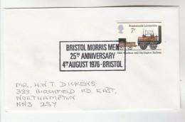 1976 Cover BRISTOL MORRIS MEN 25th Anniv EVENT Gb Stamps Folk Dance - Dance