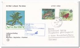 Seychellen 1982, First Flight, Mauritius-Mahe-Frankfurt - Seychellen (1976-...)