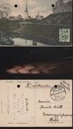7415) ESTONIA ESTONIE TALLIN PATKULI PUIESTEE VIAGGIATA 1922 DUE FORI DI ARCHIVIO - Estonia