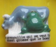 """Fève - Fables De La Fontaine """" Auchan """" - La Grenouille Et Le Boeuf - Réf AFF 1995 29 - Tiere"""