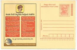 Hommage à GANDHI, Un Entier Postal Neuf De L'Inde, Année 2008 - Mahatma Gandhi